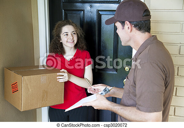 Delivering a Package - csp3020072