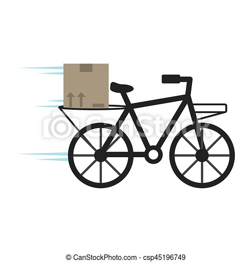 delivery bicycle box service - csp45196749