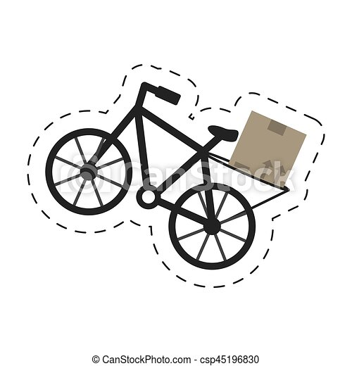 delivery bicycle box transport - csp45196830