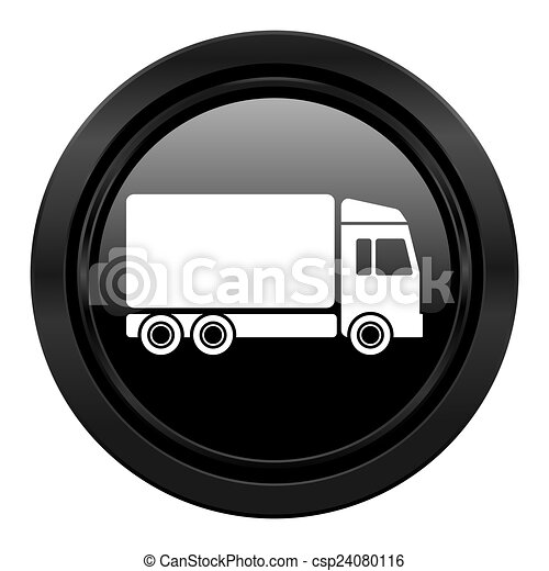 delivery black icon truck sign - csp24080116