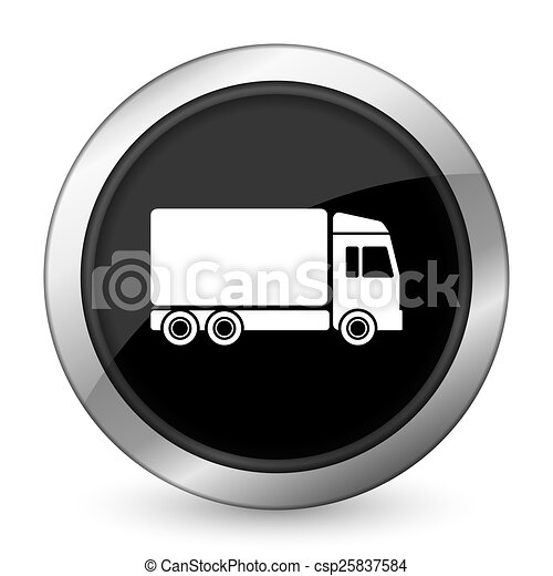 delivery black icon truck sign - csp25837584