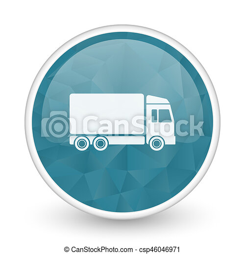 Delivery brillant crystal design round blue web icon. - csp46046971