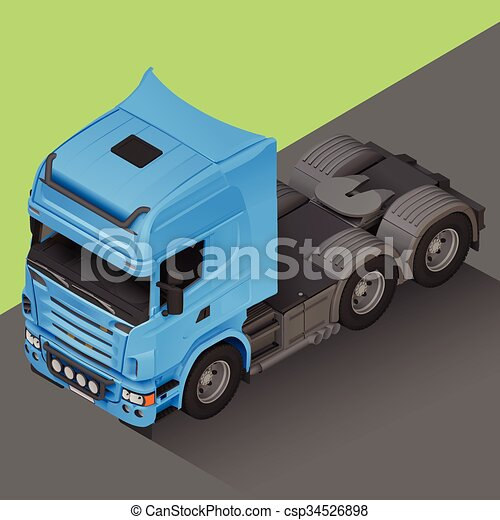 Delivery cargo isometric truck vector. Delivery cargo ...