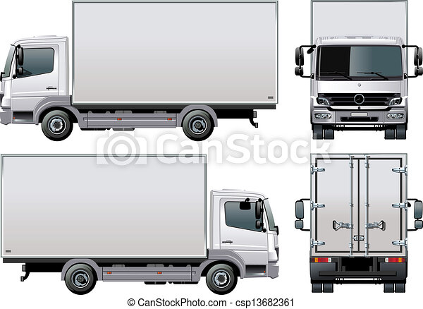 delivery / cargo truck - csp13682361