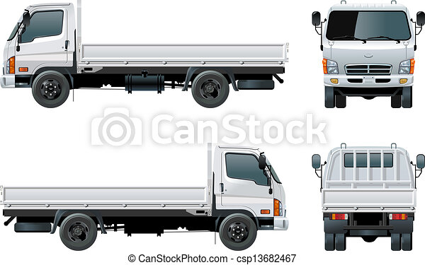 Delivery / cargo truck. Available eps-8 vector format ...