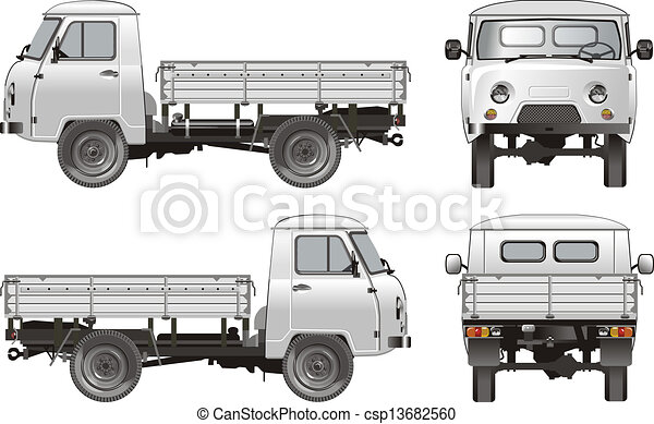 delivery / cargo truck - csp13682560