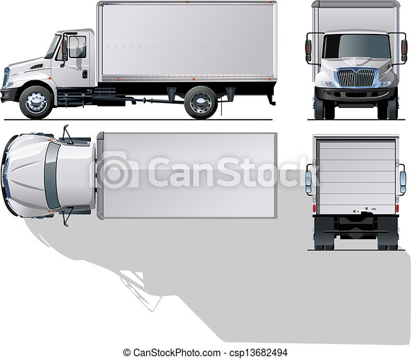 delivery / cargo truck - csp13682494