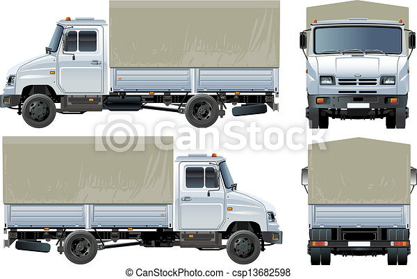 delivery / cargo truck - csp13682598