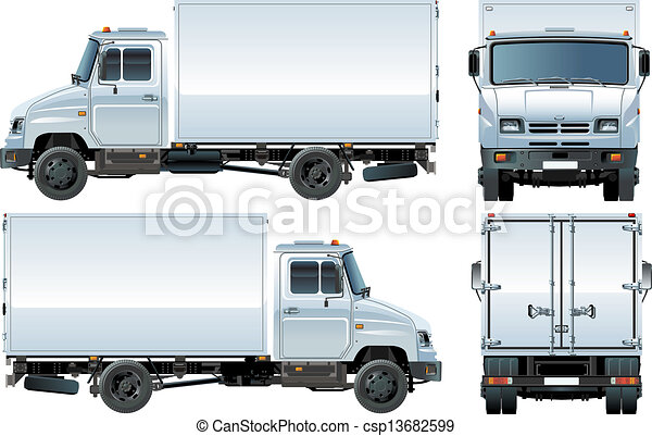 delivery / cargo truck - csp13682599