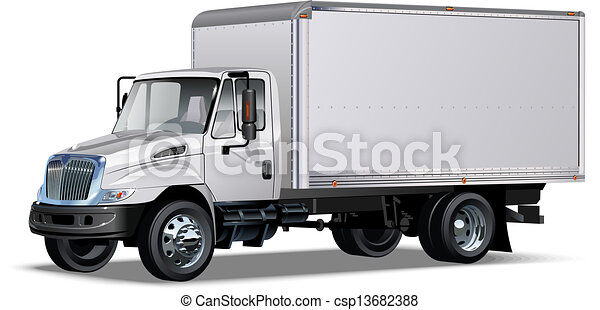 delivery / cargo truck - csp13682388