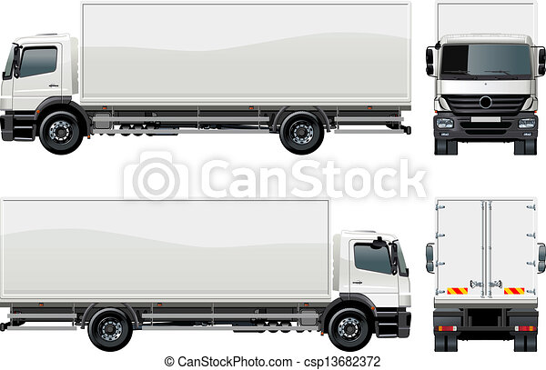 delivery / cargo truck - csp13682372