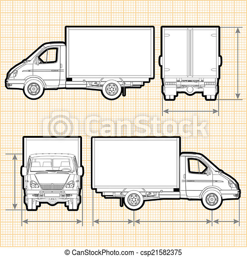 Delivery Cargo Truck - csp21582375