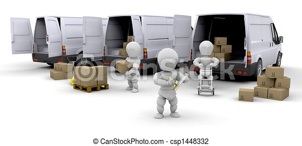 Delivery fleet - csp1448332
