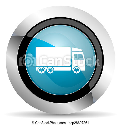 delivery icon truck sign - csp28607361