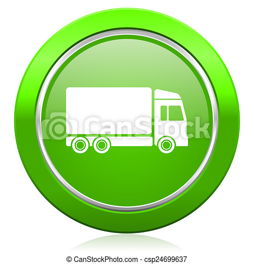 delivery icon truck signn - csp24699637