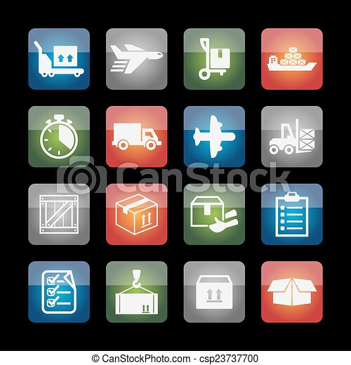 Delivery icons - csp23737700