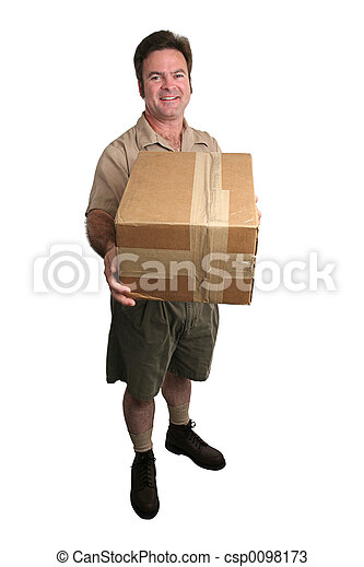 Delivery Man - Full View - csp0098173
