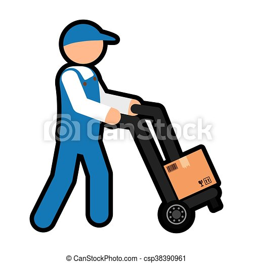 delivery man icon delivery and shipping vector graphic clip rh canstockphoto com free shipping clip art images free shipping clipart