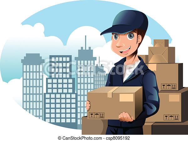 Delivery man - csp8095192
