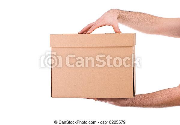 Delivery man.  - csp18225579