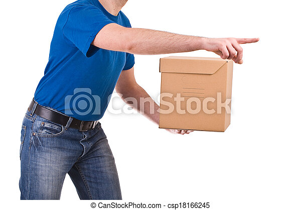 Delivery man.  - csp18166245