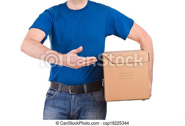 Delivery man.  - csp18225344