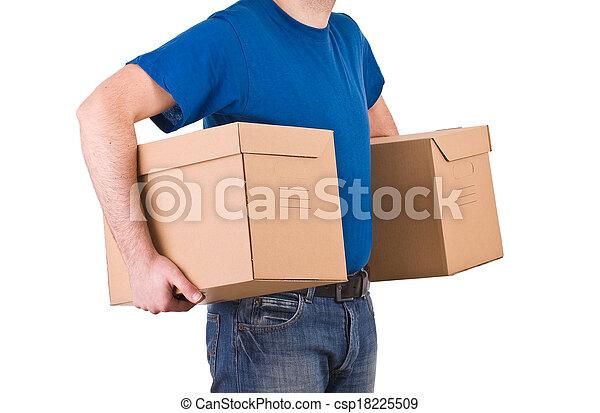 Delivery man.  - csp18225509