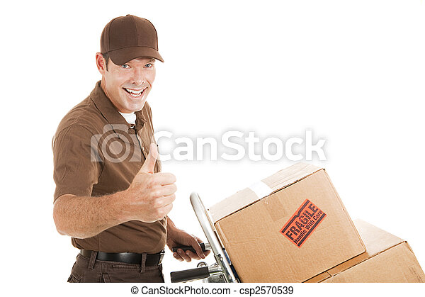 Delivery Man - Thumbs Up - csp2570539