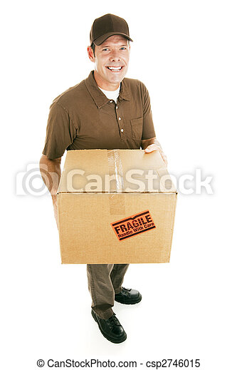 Delivery Man with Box - csp2746015