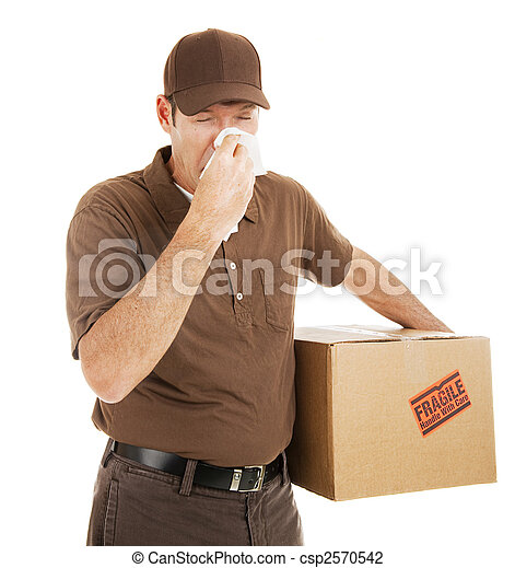 Delivery Man with Cold - csp2570542