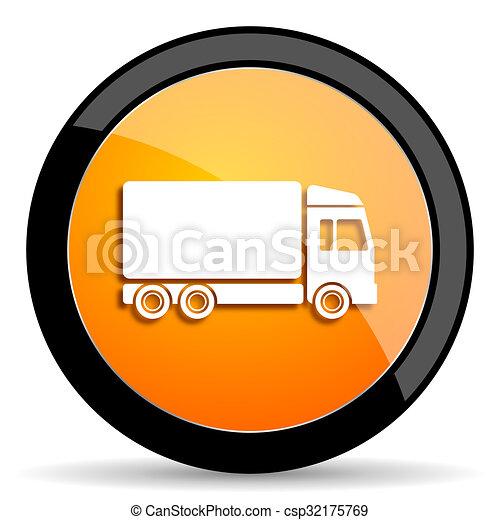 delivery orange icon - csp32175769