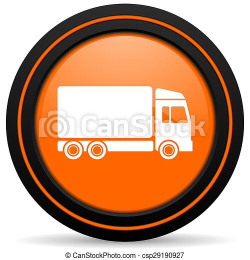 delivery orange icon truck sign - csp29190927