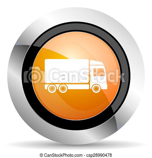 delivery orange icon truck sign - csp28990478