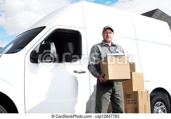 Delivery postal service man. - csp12847783