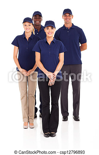 delivery service staff full length  - csp12796893