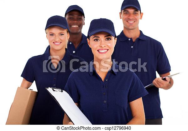 delivery service staff half length - csp12796940
