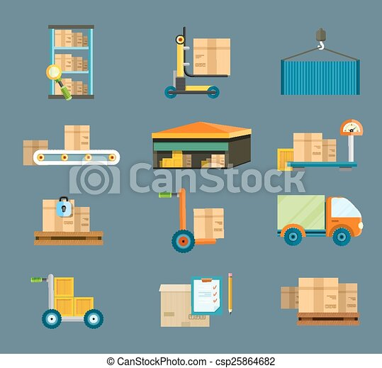 Delivery shipping concept - csp25864682