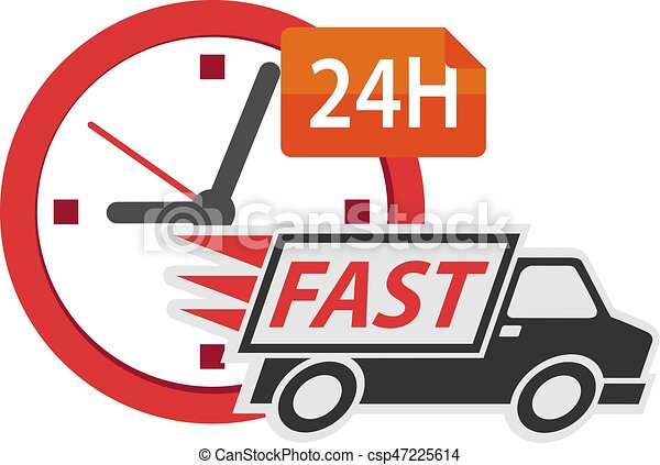 Delivery truck 24h - csp47225614