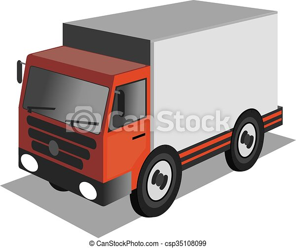 delivery truck - csp35108099