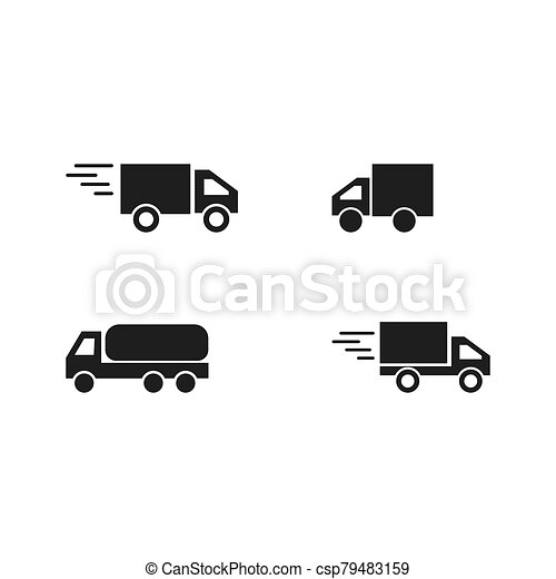delivery truck icon - csp79483159