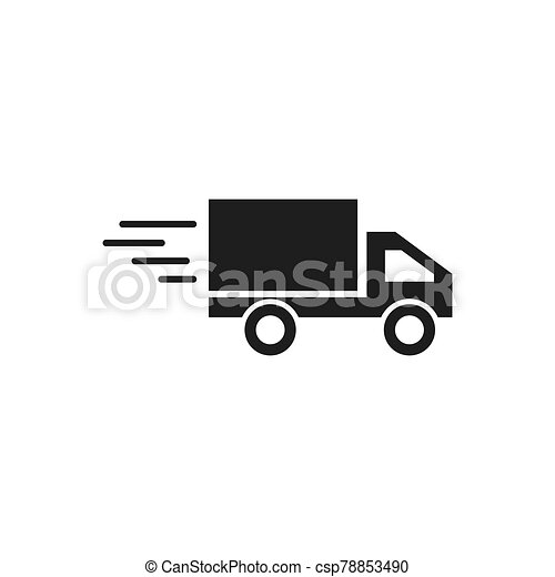 delivery truck icon - csp78853490