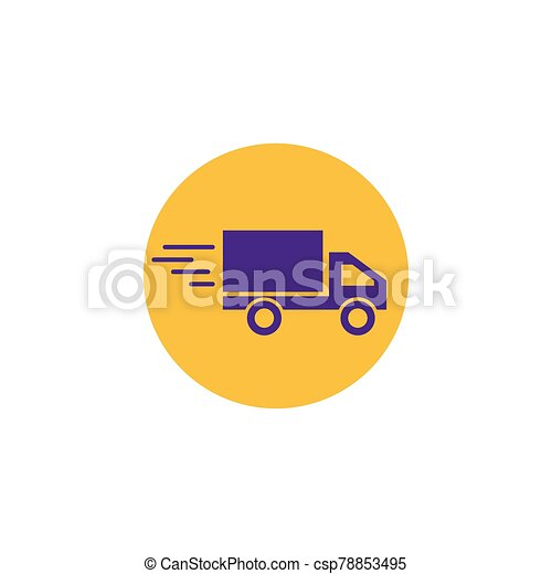 delivery truck icon - csp78853495