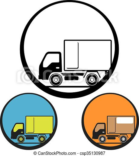 Delivery Truck Icon - csp35130987