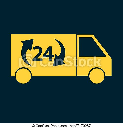 Delivery Truck icon - csp37170287