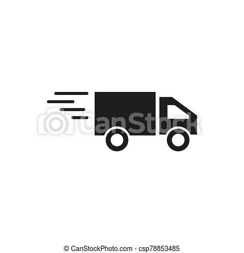 delivery truck icon - csp78853485