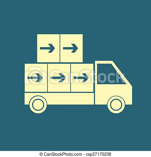 Delivery Truck icon - csp37170238