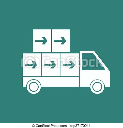 Delivery Truck icon - csp37170211