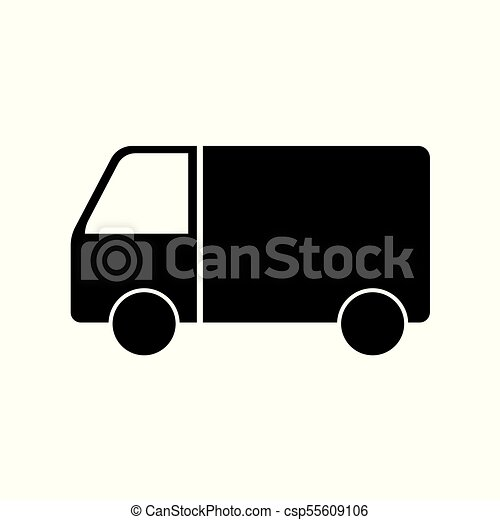 delivery truck icon - csp55609106