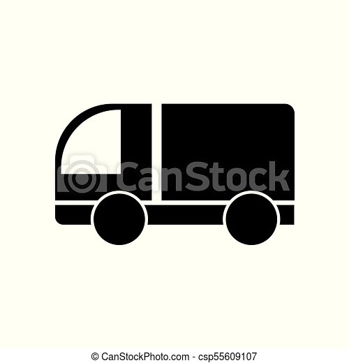 delivery truck icon - csp55609107