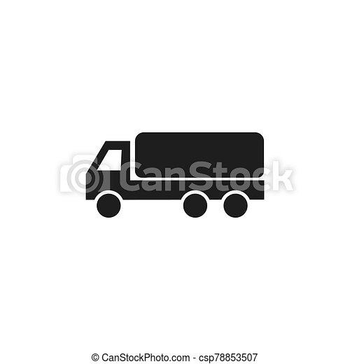 delivery truck icon - csp78853507